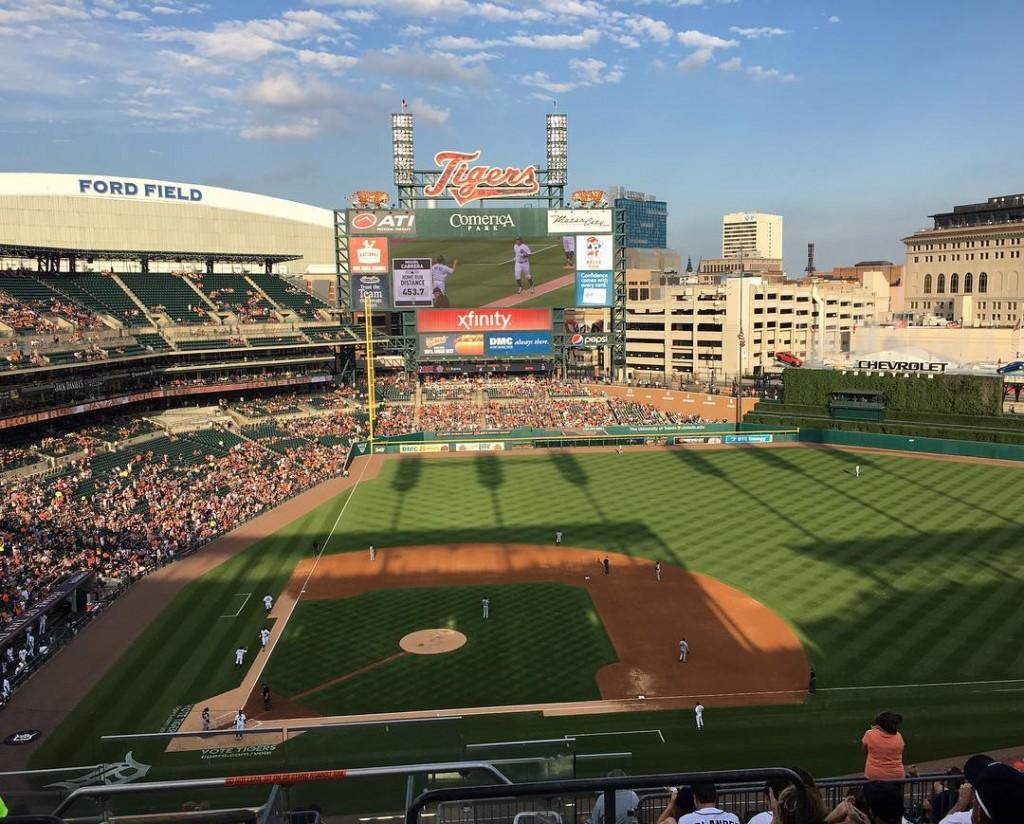 Beautiful night for a baseball game!