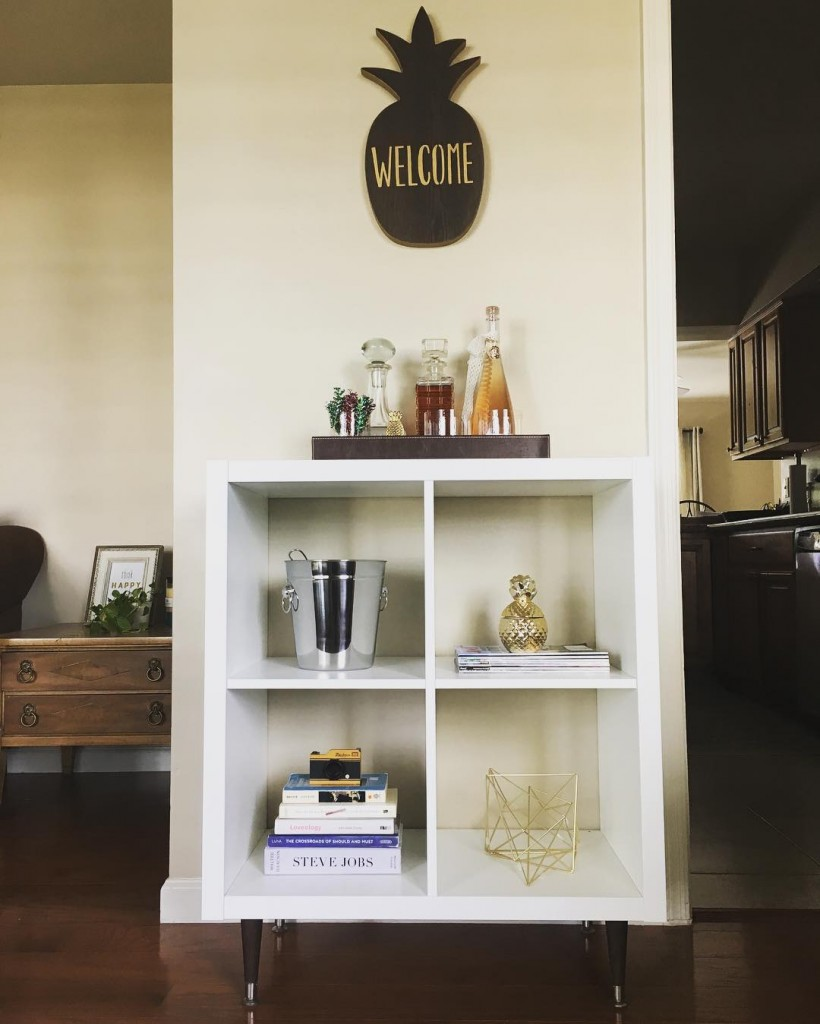 Stole this ikea DIY shelf idea from heatherbyhand  finallyhellip