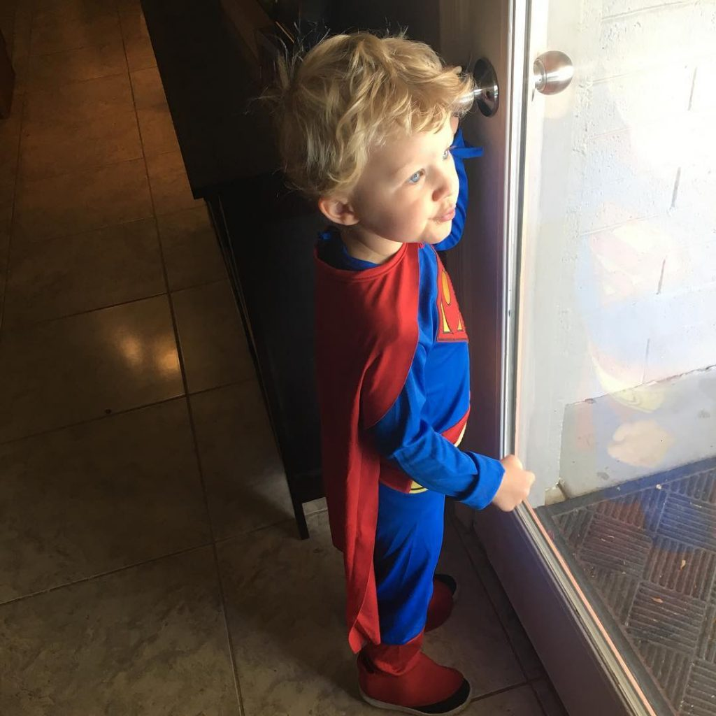 My little superman has been pulling at my heart stringshellip