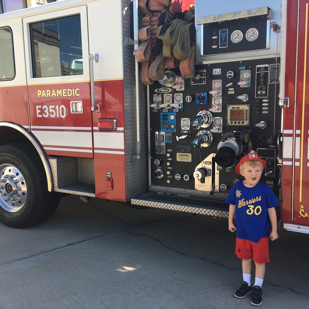 I think we have a future fire fighter on ourhellip